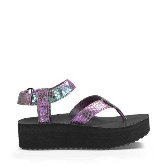 d1e8163945 Teva Shoes | Flatform Iridescent Sandals | Poshmark